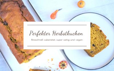 Der perfekte (Kürbis-)Kuchen für die Herbstzeit! Blitzschnell zubereitet, super saftig und vegan